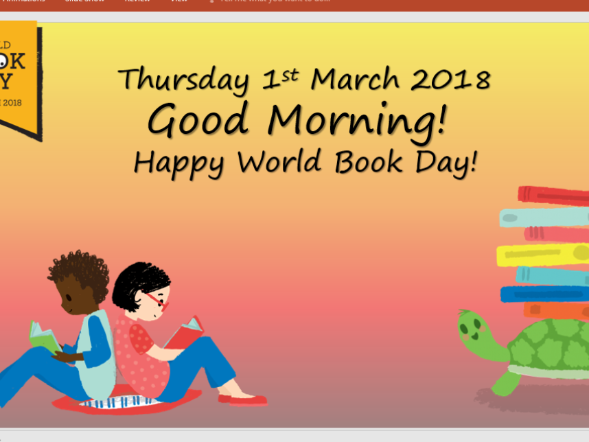 World Book Day collapsed learning plan