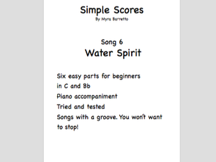 Simple Scores: An easy arrangement for a beginner orchestra. Piece 6 Water Spirit