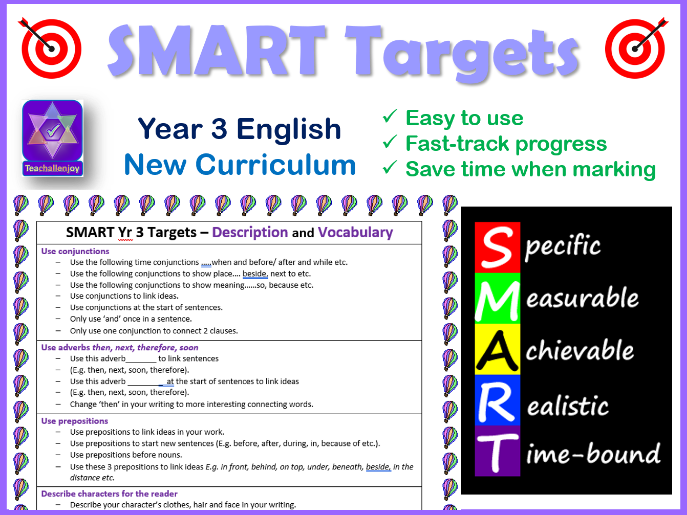 year 3 smart writing targets new curriculum by