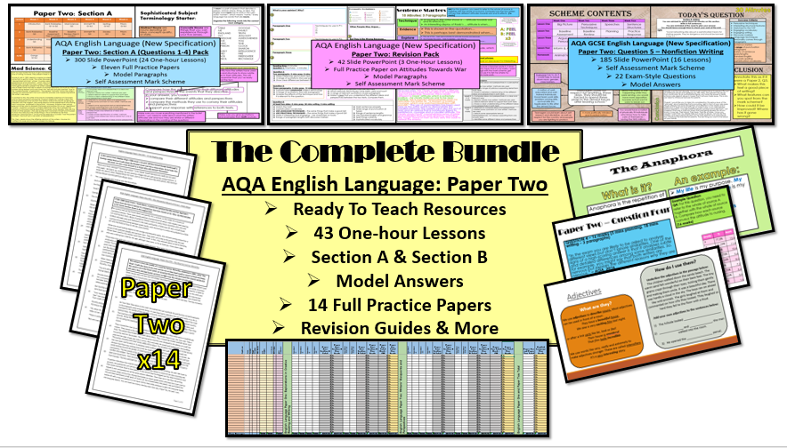 The Complete English Language Paper Two Bundle: Ready to teach! (AQA, 9-1 GCSE)