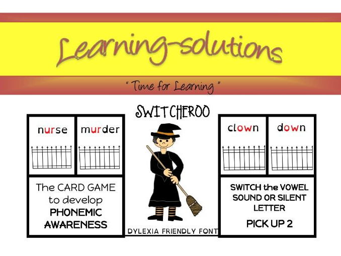 PHONEMIC DEVELOPMENT - SWITCHEROO CARD GAME - Phase 4 - 9 Games - Silent Letters, Diphthongs, +