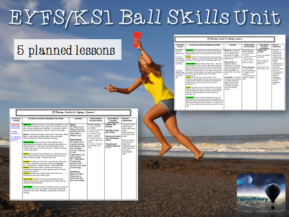 EYFS / KS1 PE Ball Skills Unit - 5 lesson plans
