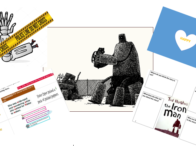 The Iron Man by Ted Hughes (literacy planning,differentiated worksheets+resources) Year 3/4 - Week 2
