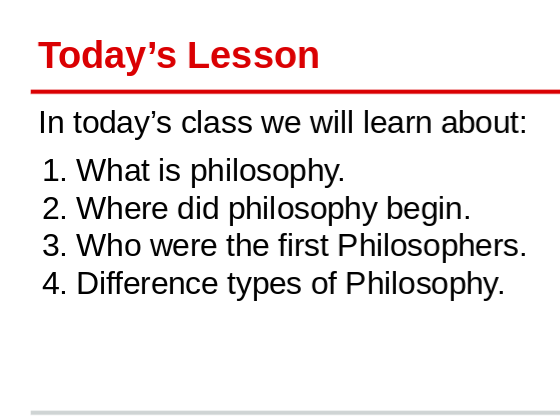 Introduction to Philosopy