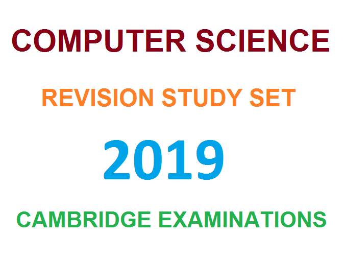 CIE Computer Science Paper-1 Complete Revision Study Set