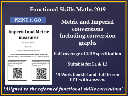 Reformed functional skills maths L1 & L2 metric and imperial coversions