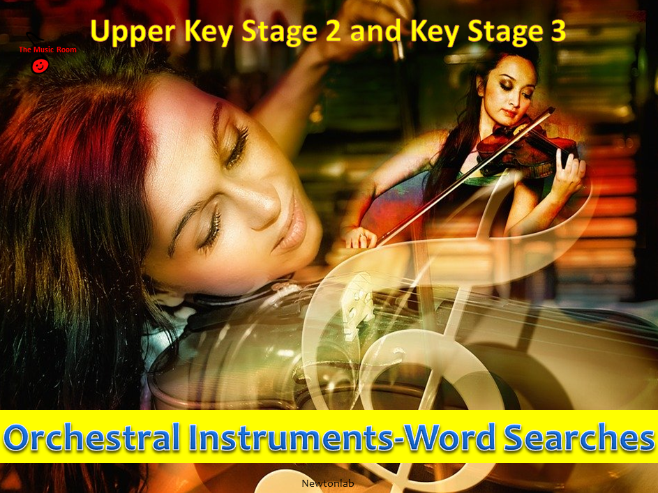 Orchestral Instruments Word Searches - Upper Key Stage 2 and Key Stage 3