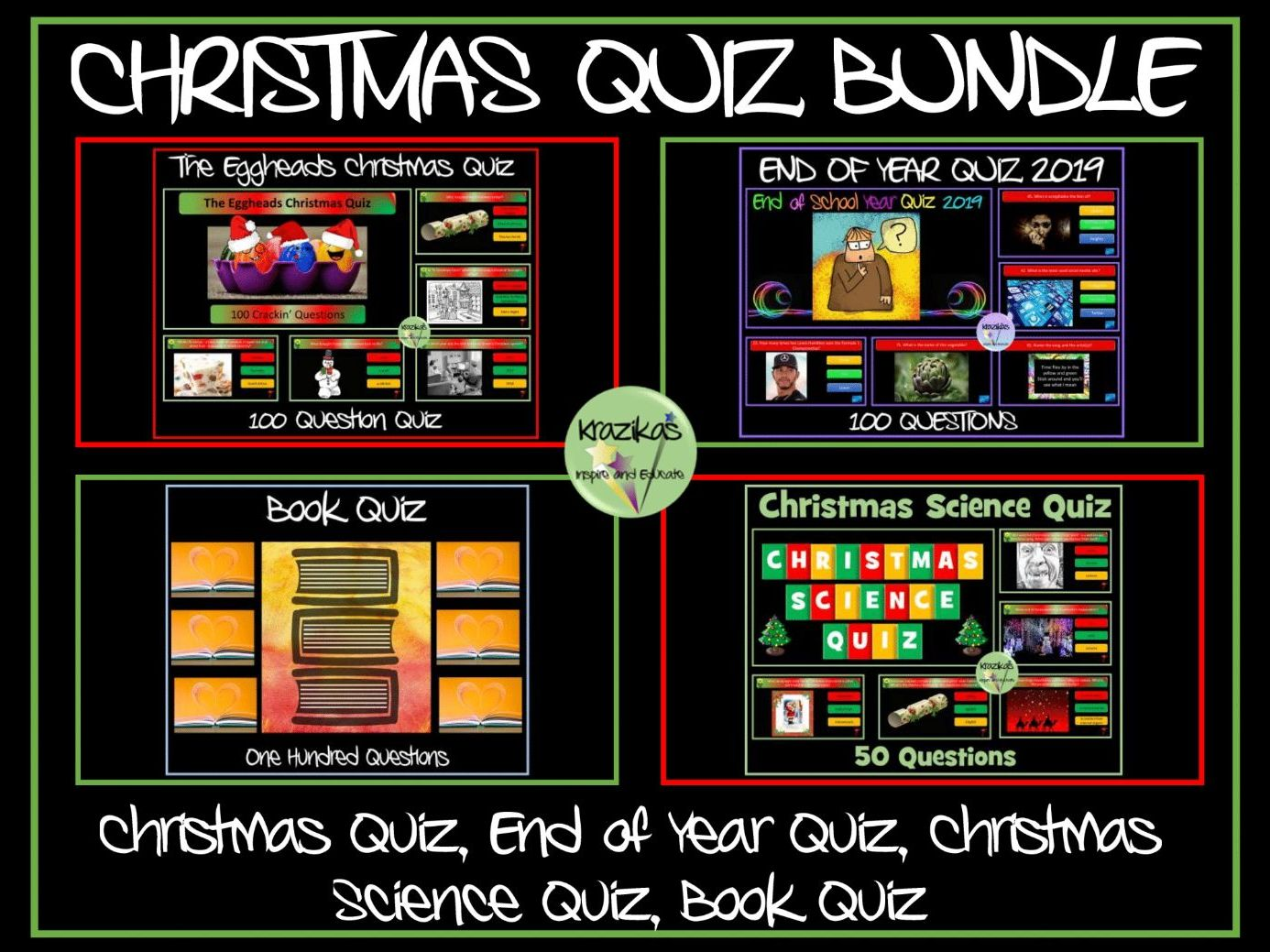 Christmas Quiz / End of Year Quiz Bundle
