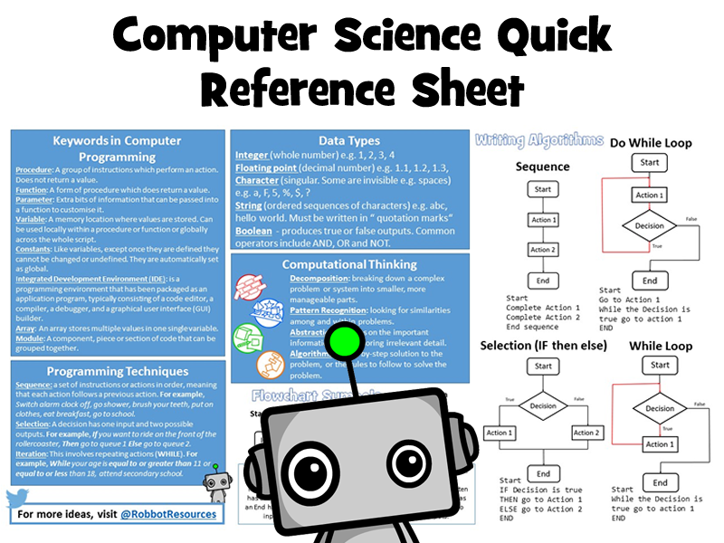 Computer Science Quick Reference Sheet