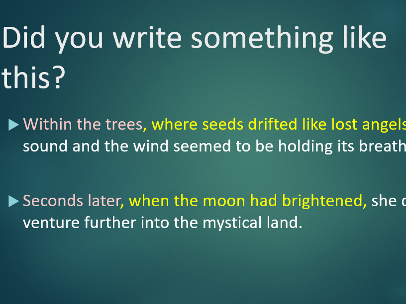 Relative Clauses (where, when) Grammar Lesson Magical Stories