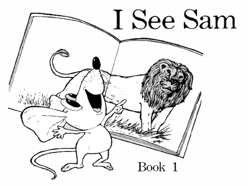 Book 1 I see Sam - from 52 book series - Early Reading Book With Questions (SWRL)