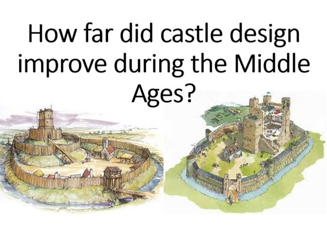 How far did castle design improve during the MAs?