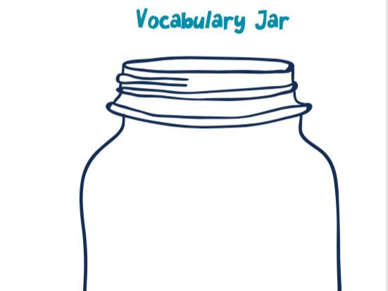 Vocabulary Jar Template