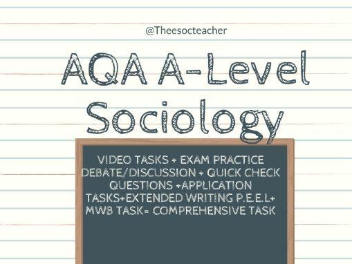 AQA A Level Sociology Couples Unit