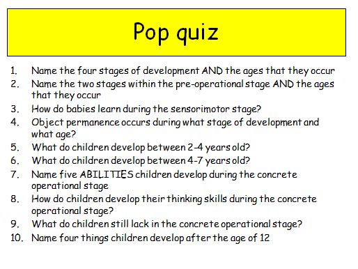 Edexcel Psychology (9-1) GCSE New Spec Unit 2 Lesson 3 - Piagets stages of Intelligence