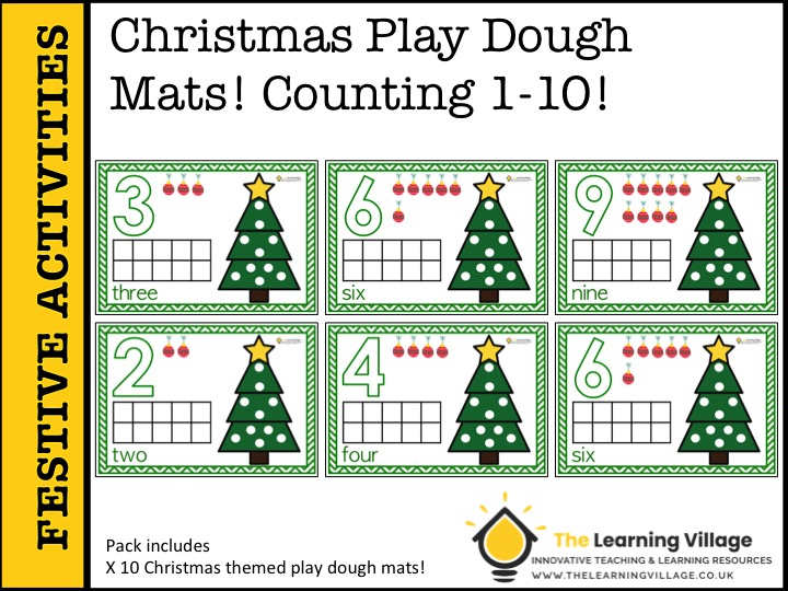 Christmas Activities for Early Years! Play Dough Mats!