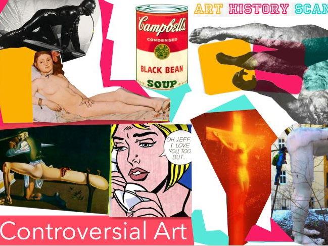 Controversial Art ~ Art History ~  Art ~ 133 Slides