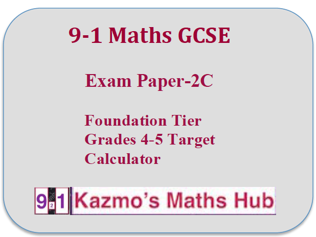 9-1 Maths GCSE Exam Paper - 2C