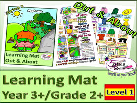 PRIMARY SPANISH YEAR 3+/GRADE 2+ VOCABULARY LEARNING MAT: Clothes, Weather, Seasons