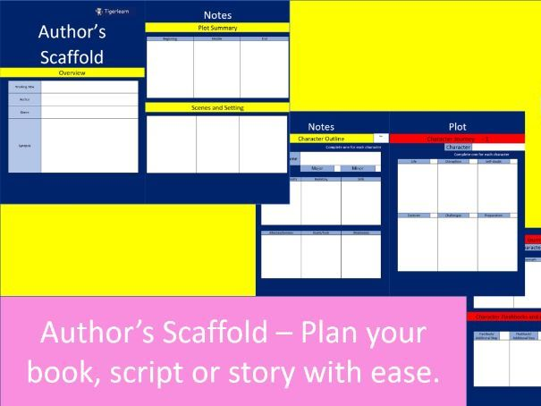Author's Scaffold - Plan and write your script. story, screen play or book with ease