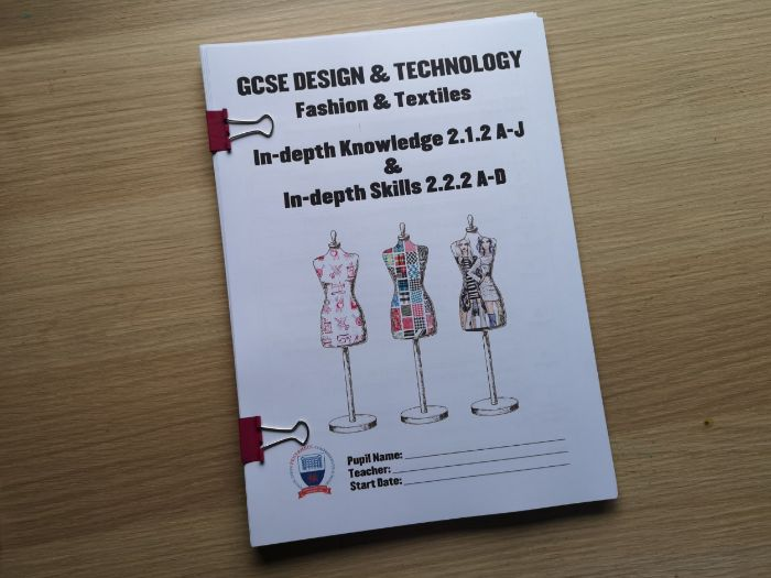 WJEC GCSE KS4 212 222 In depth Knowledge & In-depth Skills  Pupil Workbook New Design & Technology