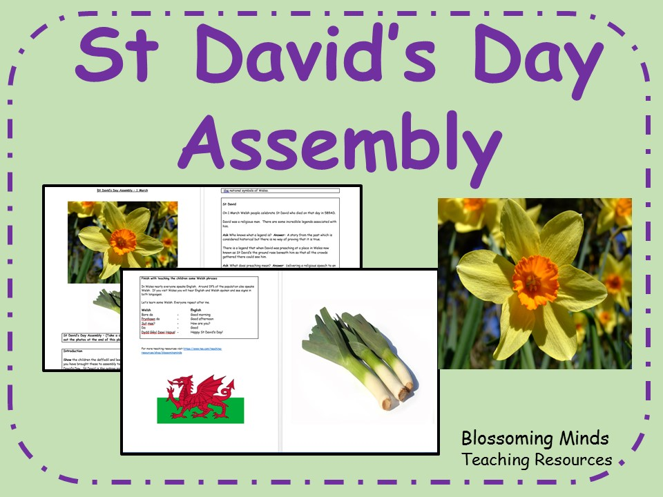 St David's Day Assembly Plan - 1 March