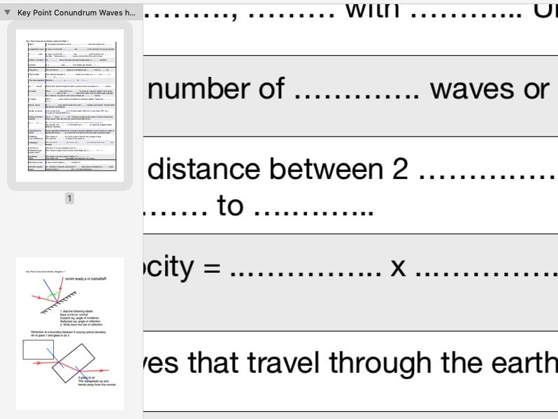 Key Points on Waves Your Pupils need to know to access Questions on GCSE Exams