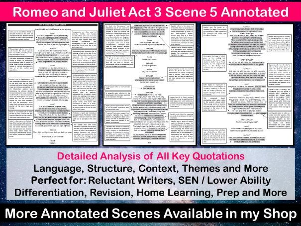 Romeo and Juliet Act 3 Scene 5 Annotated