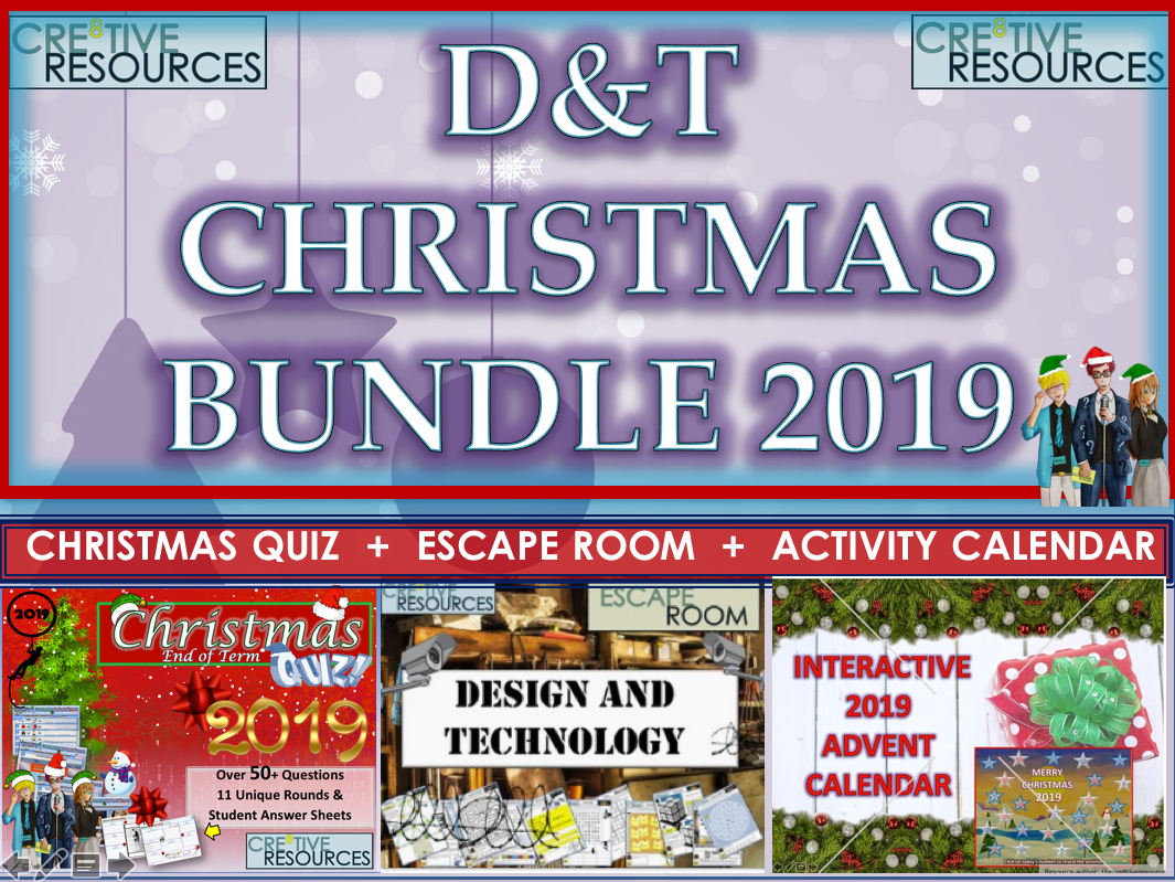 D&T Design Technology Christmas Bundle