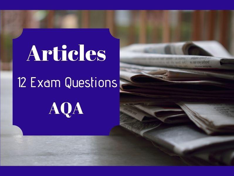 Transactional Writing Articles AQA