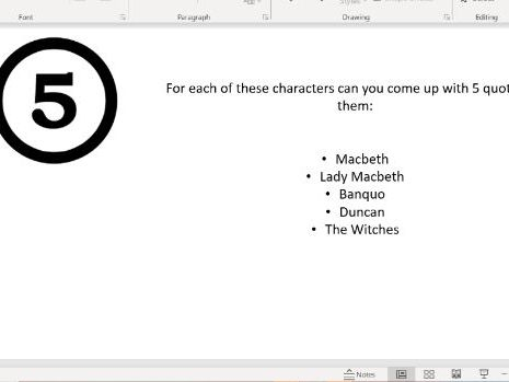 Macbeth Student-led revision