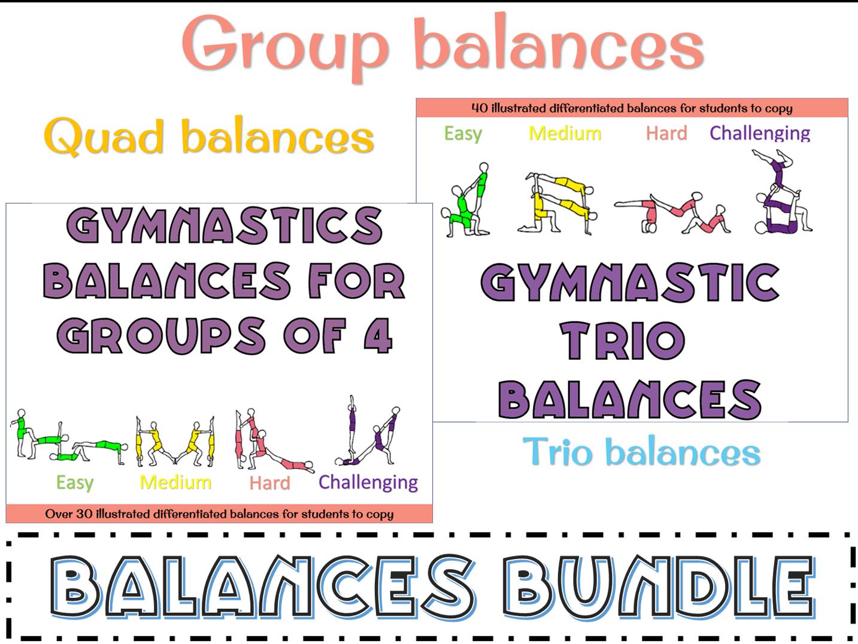 Gymnastics group balances for trios and 4s