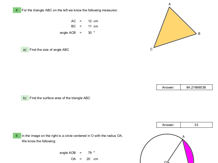 Trigonometry 20 Worksheets with answers + Generator