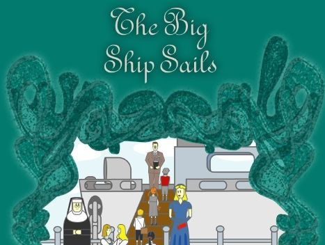 Sample pages from the play script The Big Ship Sails