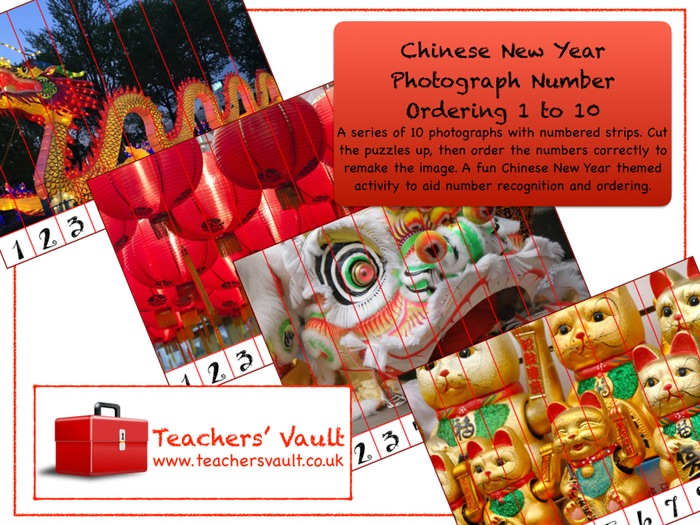 Chinese New Year Photograph Number Ordering 1 to 10