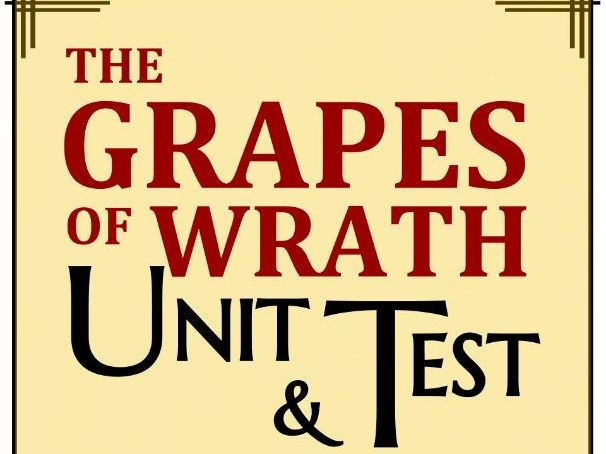 The Grapes of Wrath Test & Key