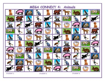 Animals Mega Connect 4 game