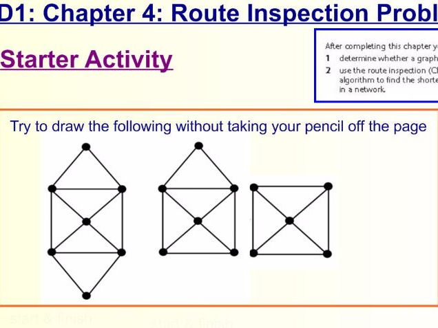 Decision 1 Chapter 4 Route Inspection Problem/ Chinese Postman