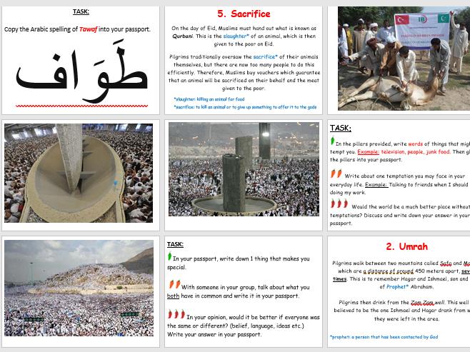 RE: Islam Hajj Passport Activity
