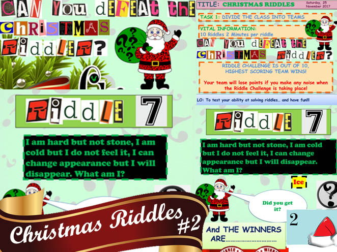 AWESOME CHRISTMAS RIDDLES #2