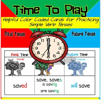 Identifying Verb Tenses {Color Coded Cards for Practicing Simple Verb Tenses}
