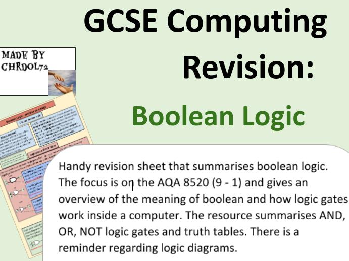 GCSE Computing Revision: Boolean Logic