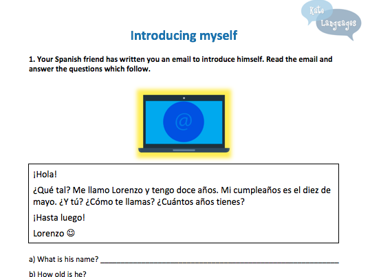 Key Stage 3 Spanish - Introducing myself