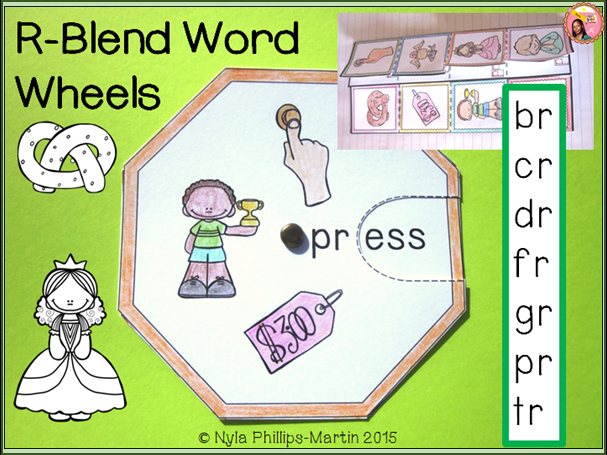Phonics Word Wheels and Foldables for R Blend