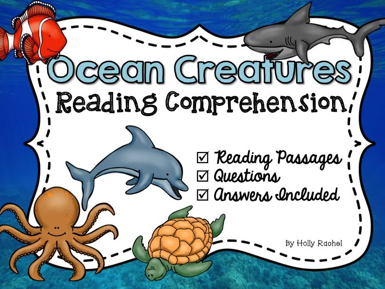 Ocean Creatures Reading Comprehension