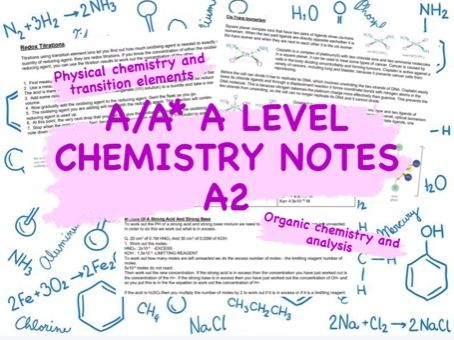A/A* OCR A A Level Chemistry Notes- A2