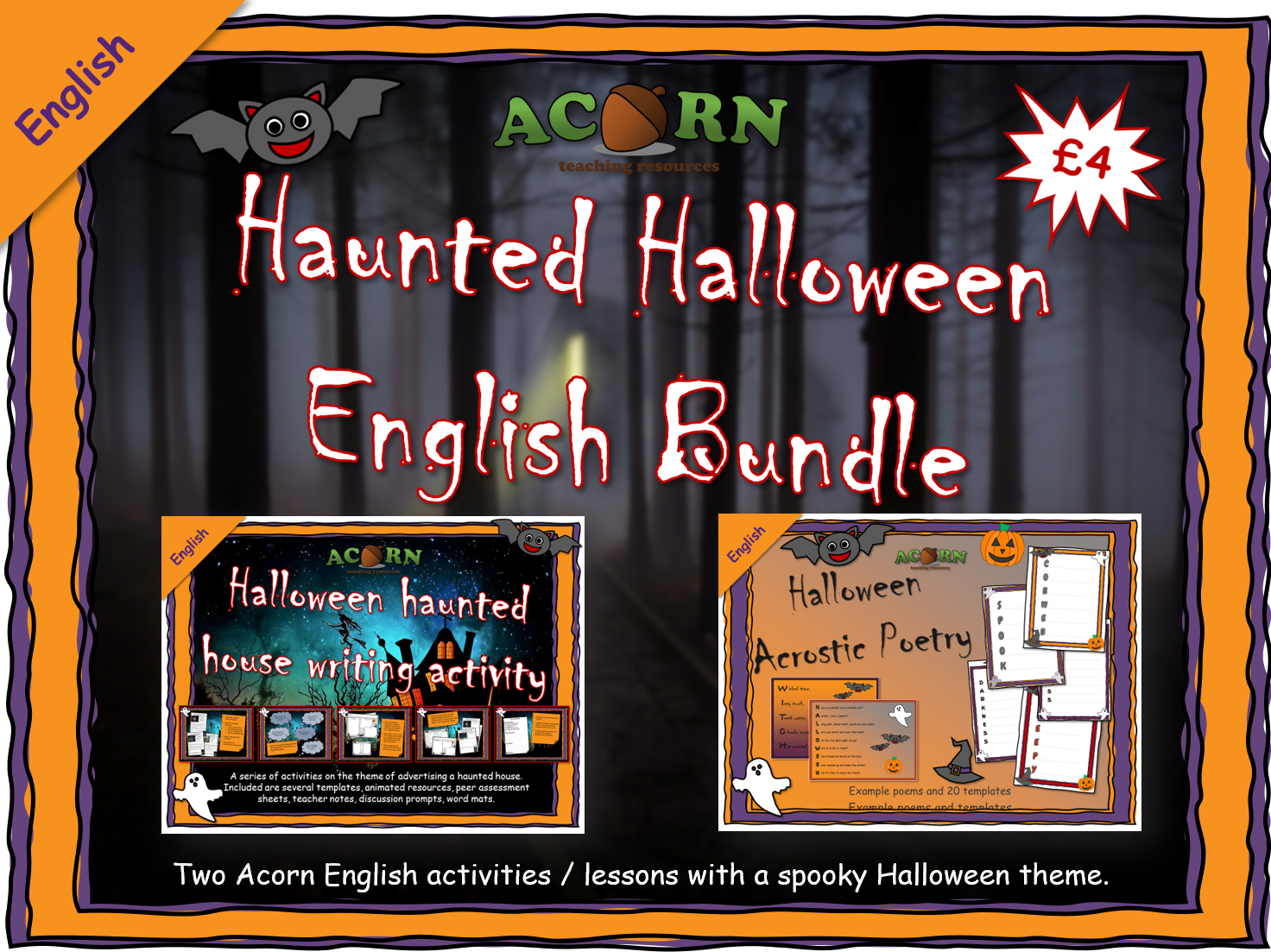 ENGLISH - Acorn Halloween Activities