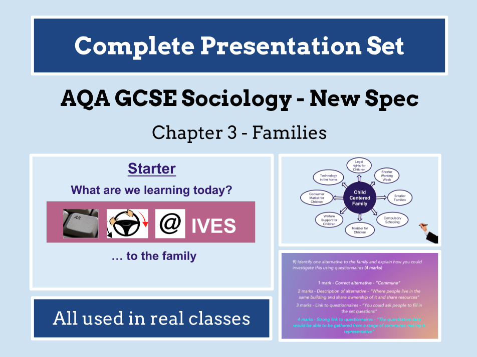 AQA GCSE SOCIOLOGY NEW SPECIFICATION - Unit 3 - Families