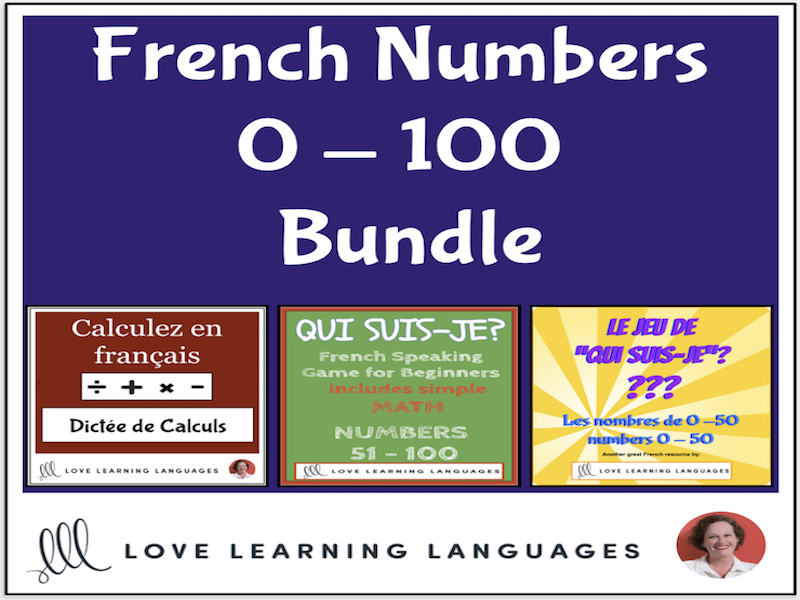 French Number Games 0-100 BUNDLE