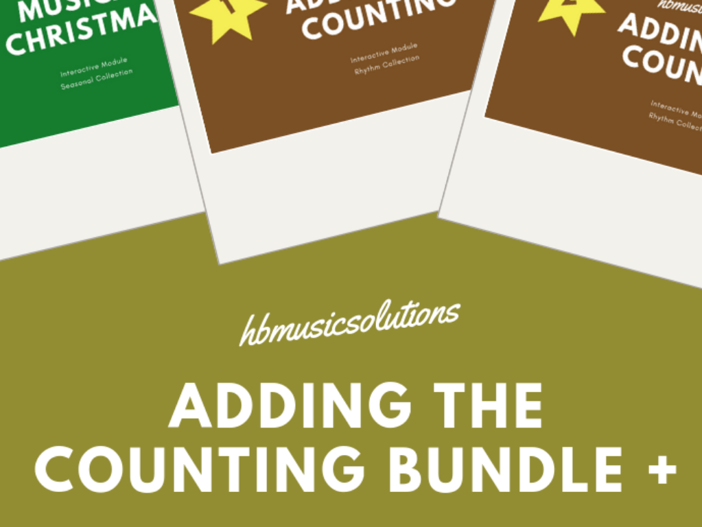 Adding Counting To A Rhythm Music Interactive Module Bundle +